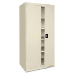 Lorell Steel Storage Cabinets, Putty - Two Sizes