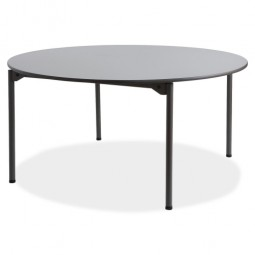 Iceberg Round Folding Table, Gray