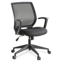 Lorell Executive Chair, Mesh Mid Back, Black