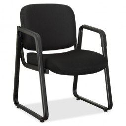 Lorell Guest Chair, Black Fabric