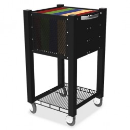 Vertiflex Sidekick InstaCart File Cart, Black