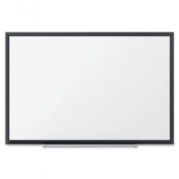 Quartet Porcelain WhiteBoard, 4' x 3', Black Aluminum Frame