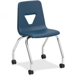 """Navy Mobile Student Task Chair - 18""""H - Pack of 2"""