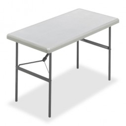 "Iceberg Folding Table, 300 lb Capacity, 48"" x 24"" x 29"", Platinum"