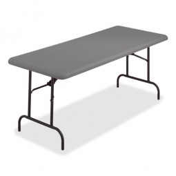 "Iceberg Folding Table, 1200 lb Capacity, 60"", Charcoal"