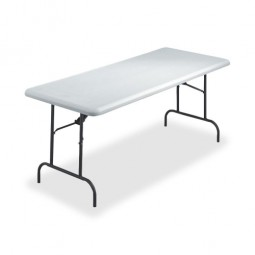 "Iceberg Folding Table, 1200 lb Capacity, 72"" x 30"" x 29"", Platinum"