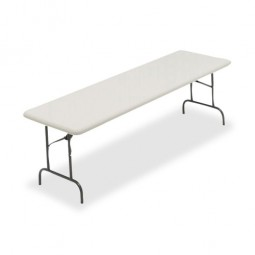 Iceberg Folding Tables, 1200 lb Capacity, Platinum - Multiple options