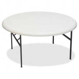 Iceberg Round Folding Tables, Platinum - Multiple options