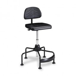 """Safco Industrial Chair, Seat 16¼"""" x 16¼, Back 14½"""" x 9"""", Black"""