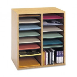 """Safco Adjustable Organizer, 19½"""" x 11¾"""" x 21"""", 16 Compartment - Various Colors"""