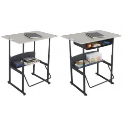 """Large Standard Top Alphabetter Stand-Up Desk - 36"""" x 24"""" Beige - Optional Book Box - Safco Products"""