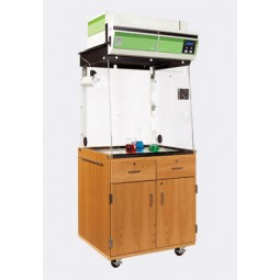 "UV Finish Mobile Fume Hood Station, 32⅜""W x 81½""H x 27¼""D"