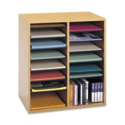 Safco Adjustable Shelves Literature Organizers - Multiple options