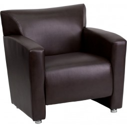 Signature Majesty Series Leather Chair - Brown