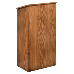Oklahoma Sound Full Floor Lectern - Select from 3 Finishes