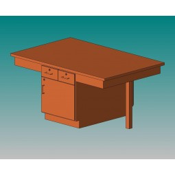 4 Station Table with Plain Apron - 4 Top Types