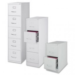 Lorell Vertical File Cabinets, Light Gray - Letter or Legal
