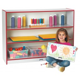Jonti-Craft Rainbow Accents Super-Sized Adjustable Bookcase - Multiple Edge Colors