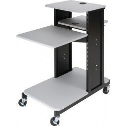 Balt 27521 Xtra Long Presentation Cart - Gray
