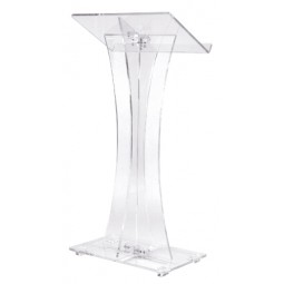 Clear Acrylic Curved Lectern - 471 by Oklahoma Sound