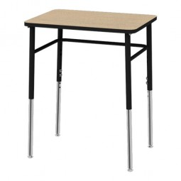 "Artcobell Uniflex 7SD4A0 Four Leg Student Desk 18"" x 24"" - Laminate and Solid Plastic Tops"