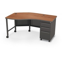 Balt 90590 Instructor Teacher'S Desk Ii - Cherry/Black