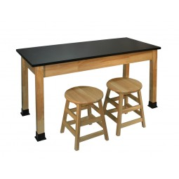 """BS-EP Series 30""""x60"""" Chemical Resistant Solid Epoxy Resin Science Tables (Stools shown sold separately)"""