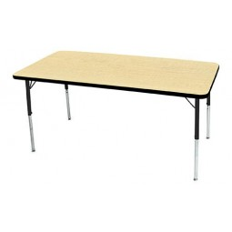 """24"""" x 60"""" Rectangle Artcobell 1235F Uniflex 1200 Series Activity Table with T-Mold Edge"""
