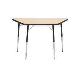"Artcobell 1290F Uniflex 1200 Series Activity Table with T-Mold Edge 30"" x 60"" Trapezoid"