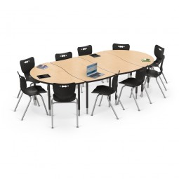 Rectangle and Half-Round models shown configured together. Chairs sold separately.