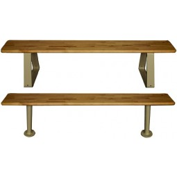 "Hallowell Maple Bench Top, 144""W x 9.5""D x 1.25""H, Natural Maple, Requires 3 Pedestals - sold separately"