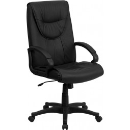 High Back Black Leather Executive Swivel Office Chair