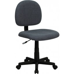 Mid-Back Ergonomic Fabric Task Chair - 3 Seat Options