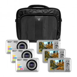 "Hamilton Camera Explorer Kit, Six 5MP Digital Cameras with Flash and 2.4"" LCDs, Nylon Carry Case - CAMERA-DC2-6"