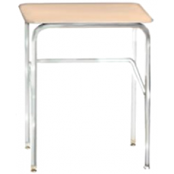 Columbia Manufacturing Study Top Desk - Sand Top and Chrome Frame