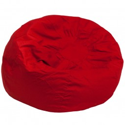 Red - Large Bean Bag Chair