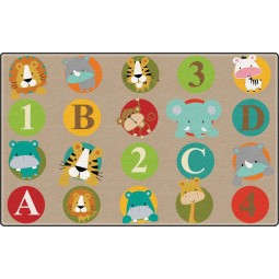 ABC and 123 Animals Educational Rug