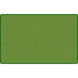 All-Over Weave in Green Educational Rug