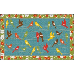 Birds On A Wire Educational Rug