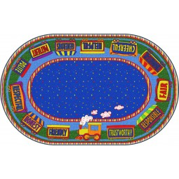 The Good Friend Train Educational Rug