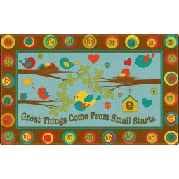 Great Things Come From Small Starts Educational Rug
