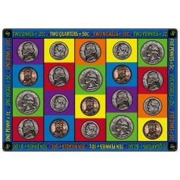 How Much Money Do I Have? Educational Rug
