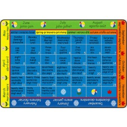 Four Seasons Multilingual Educational Rug