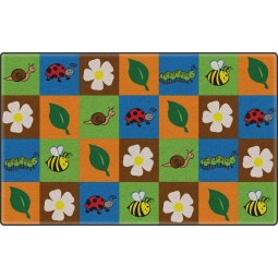 Nature Squares Educational Rug