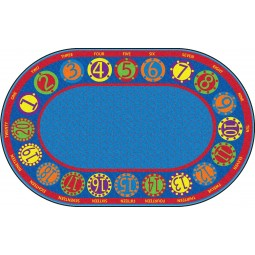 Number Circles Educational Rug