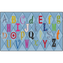 Playful Letters Educational Rug