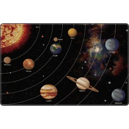 Tranquility Colors Solar System Orbit Educational Rug