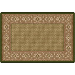 Ventana Weave in Green Office Rug