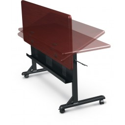 Balt Flipper Tables in Mahogany - Choose Shape and Size
