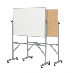 """ARMK34 72⅛"""" x 53¼"""" Aluminum Frame Reversible Acrylate Marker/Natural Cork Board with 4 Markers & Eraser  by Ghent"""